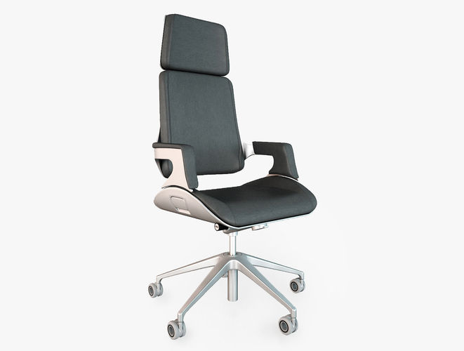 interstuhl silver 362s office chair 3d model max obj fbx 1