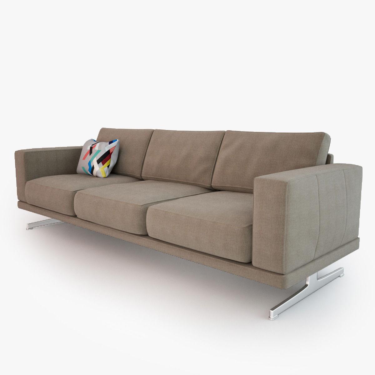 ... Boconcept Carlton Sofa 3d Model Max Obj Fbx 3 ...