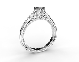 3d printable model beautiful engagement ring 4 mm central stone