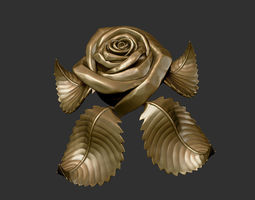 rose sculpture 3d print model