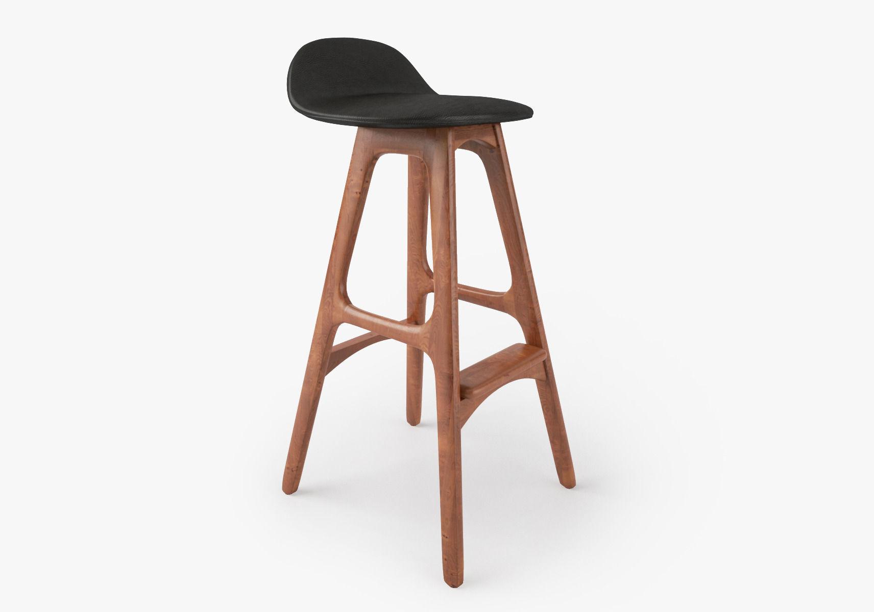 Strange Erik Buch Bar Stool 3D Model Machost Co Dining Chair Design Ideas Machostcouk