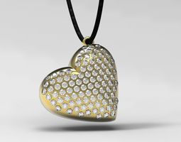 Pendant heart 3D Model