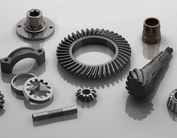 3D print model Differential Gears