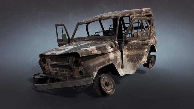 UAZ-3151 Burnt