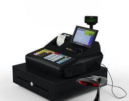 3d sam4s samsung sps-530 cash register  with barcode reader