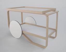 Artek Tea Trolly 901 3D Model