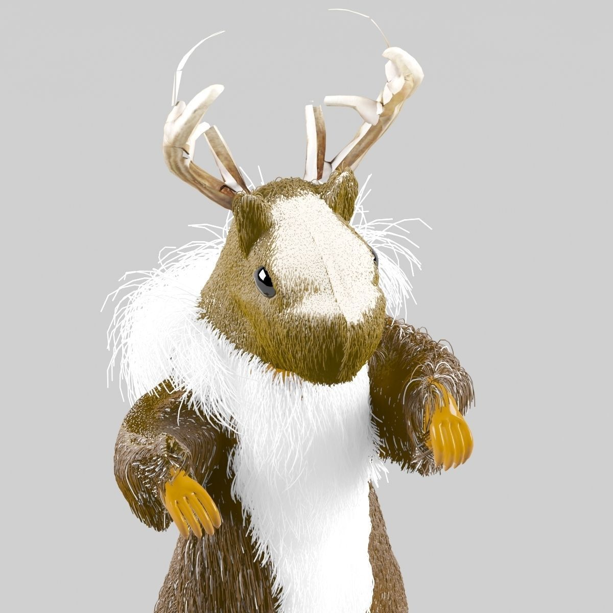 Prairie-deer fantasy creature 3D model