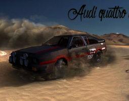 realtime audi quattro 80s rally car 3d asset