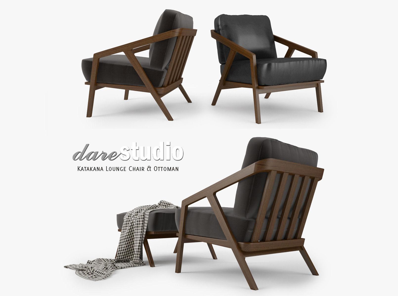 dare studio katakana lounge chair and ottoman 3d model max obj fbx mtl 1 ...  sc 1 st  CGTrader & Dare Studio Katakana Lounge Chair and Ottoman 3D model MAX OBJ FBX MTL