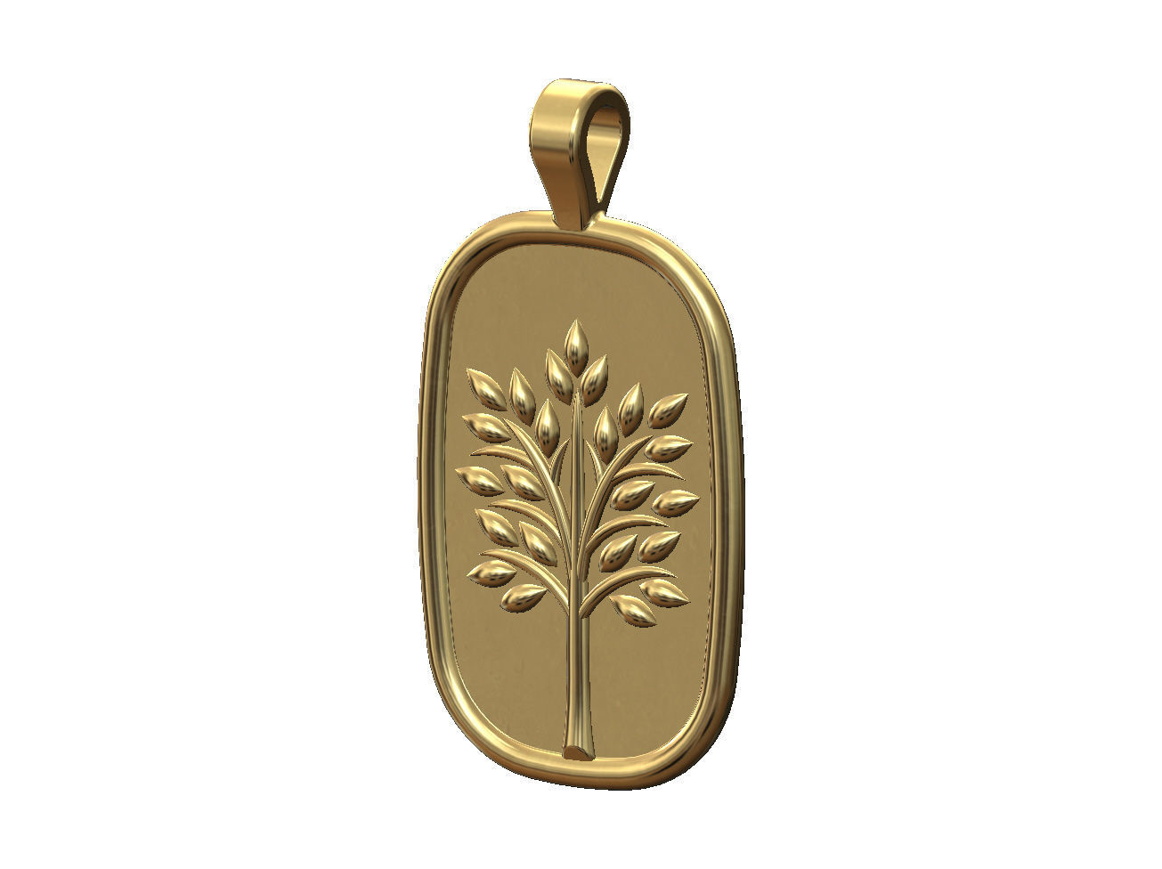 Tree of life relief pendant and charm