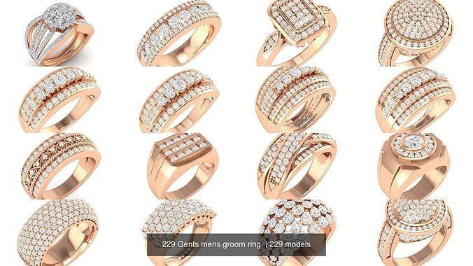 229 Gents mens groom ring