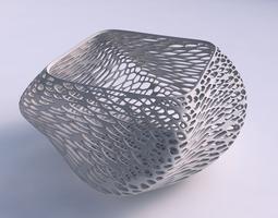 bowl helix with dense twisted organic lattice 3d print model