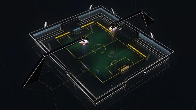 stadium soccer glow 3d model 3d model max fbx 1