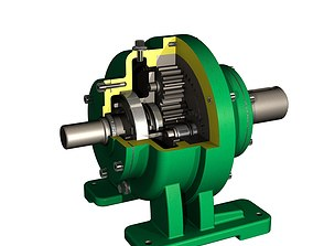 3D Planetary gearbox transmission