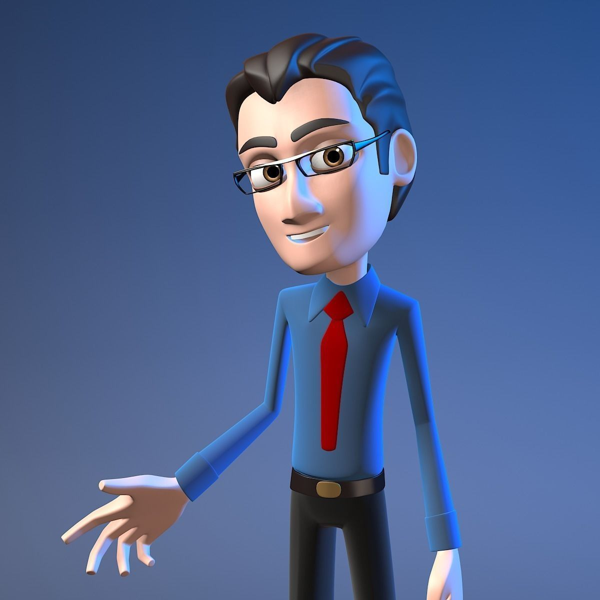 2 Cartoon Rigged Office Characters 3d Model Rigged Max Obj