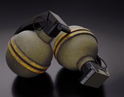 frag grenade weapon 3D model