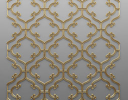 Panel lattice grille 3D 57