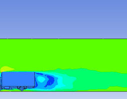 Truck simulation in ansys 15 and 16 3D model