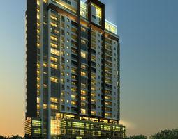 3D model Apartment Building apartment