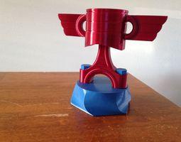 piston trophy 3d print model
