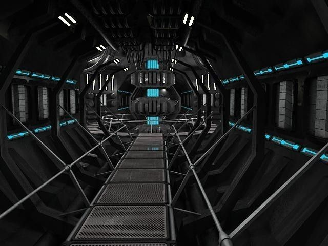 Scifi interior | 3D model