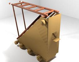 3d model medieval war machine - siege ladder