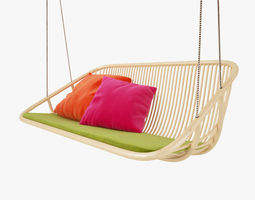 Paola Lenti Swing Hanging Chair 3D model