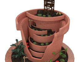 3D model Broken Pot Garden