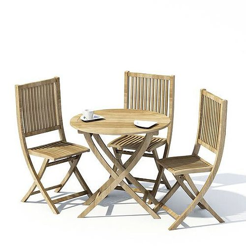 3d Model Patio Furniture Set Cgtrader