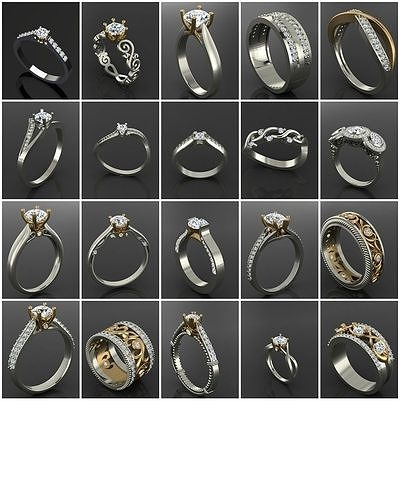 700 Models - Big Sale 3D MODEL Files- Rings - Pendants Group