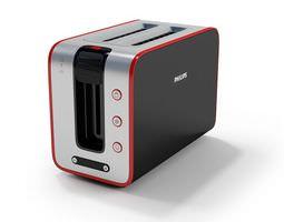 black modern toaster 3d
