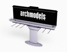 black silver advertisement sign 3d