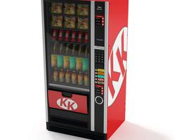 Kk Red And Black Snack Vending Machine 3D model