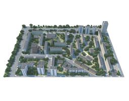 3D City Area Landscape