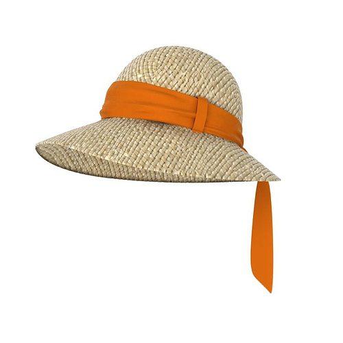 women s sun hat 3d model obj mtl 1