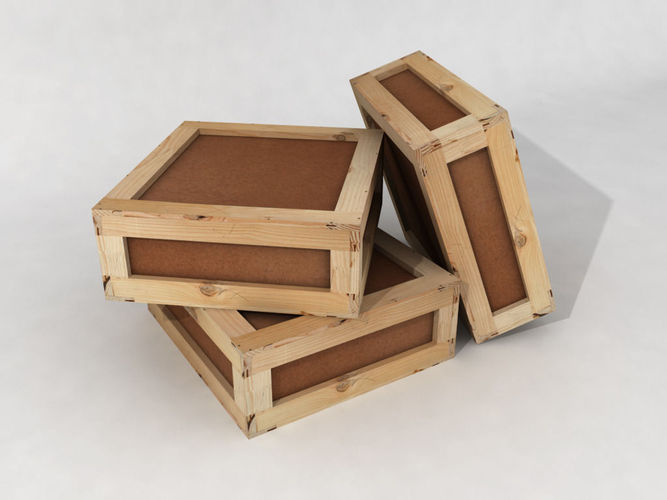 stacked wooden crates for warehouse 3d model low-poly max obj mtl 3ds mat 1