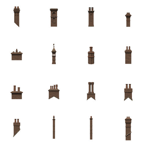 chimneys 3d model obj fbx ma mb mtl 1