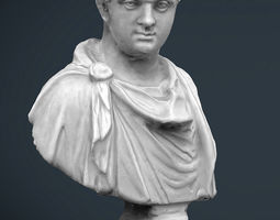 3d model roman bust game-ready
