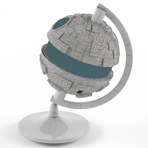 glowing death star globe lamp 3d model cgtrader. Black Bedroom Furniture Sets. Home Design Ideas