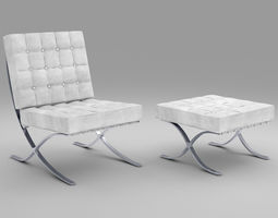 3D Barselona Knoll chair