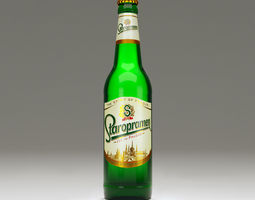 Staropramen bottle 3D model