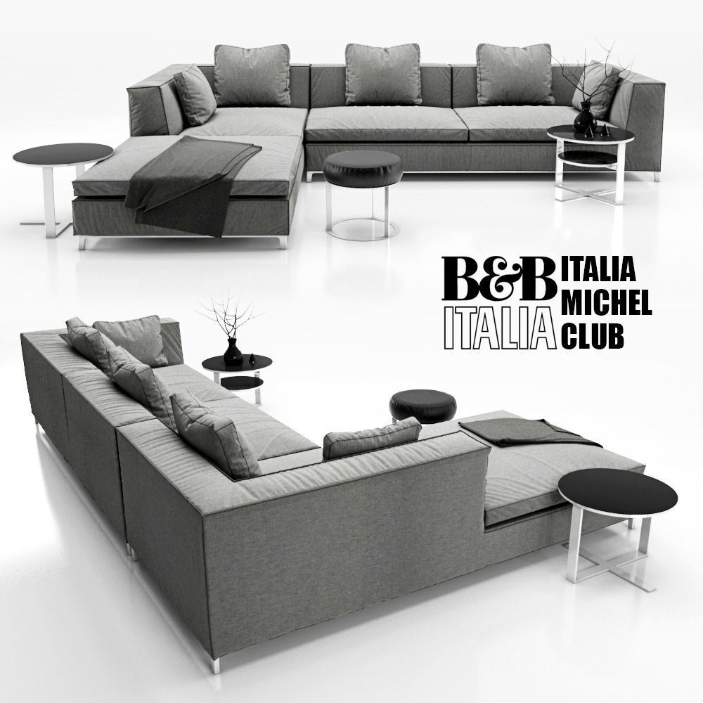 Sofa B And B ITALIA MICHEL 3D Model CGTrader