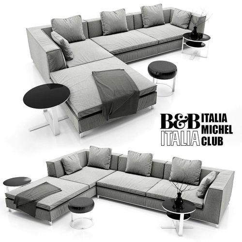 Sofa B and B ITALIA MICHEL 3D model