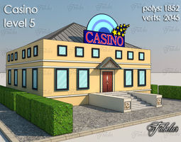 3d model low-poly Casino Level