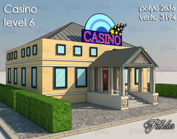Casino Level 3D model low-poly