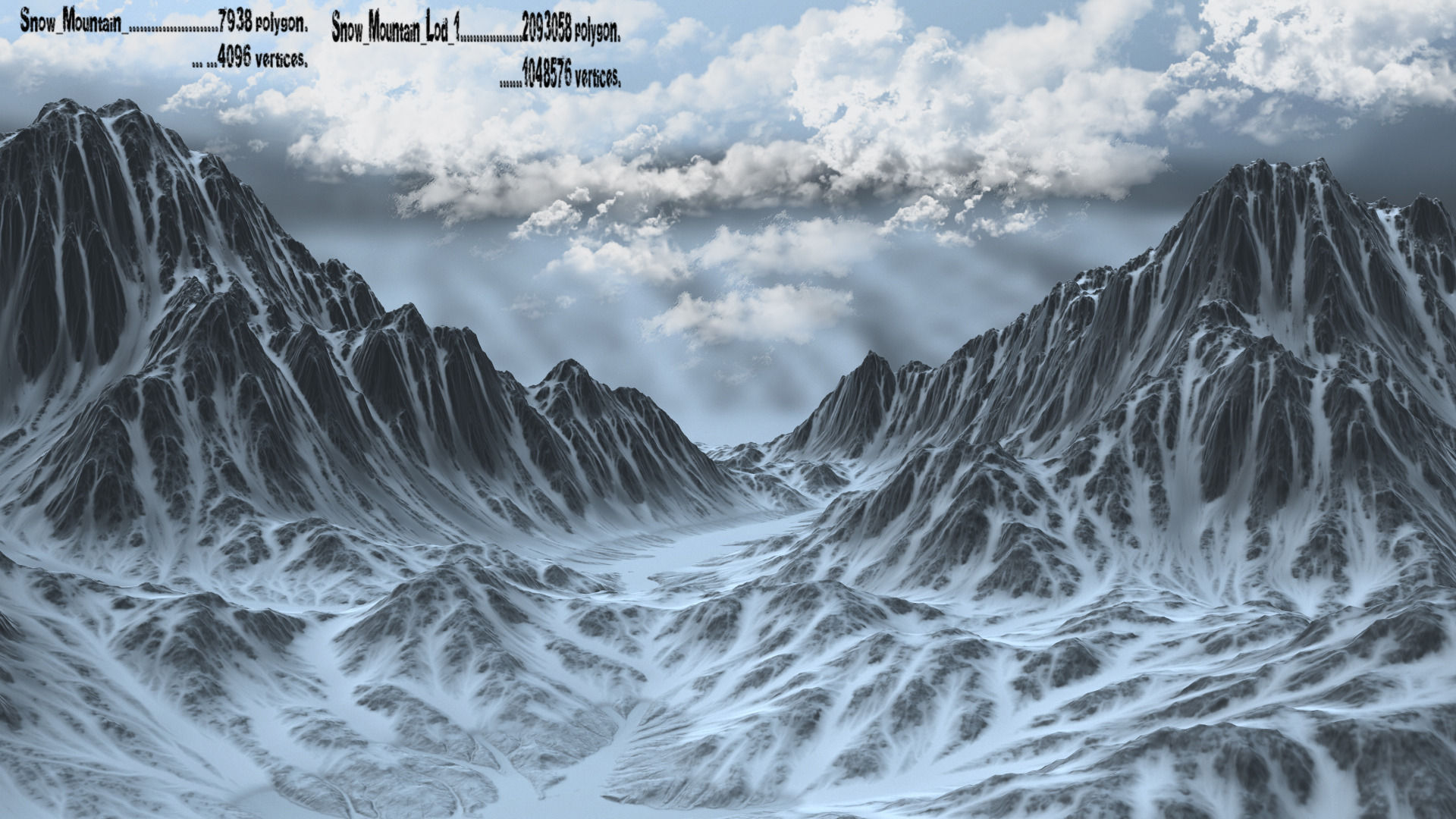 snow mountain 3d model | cgtrader