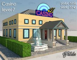 Casino Level 3d asset low-poly