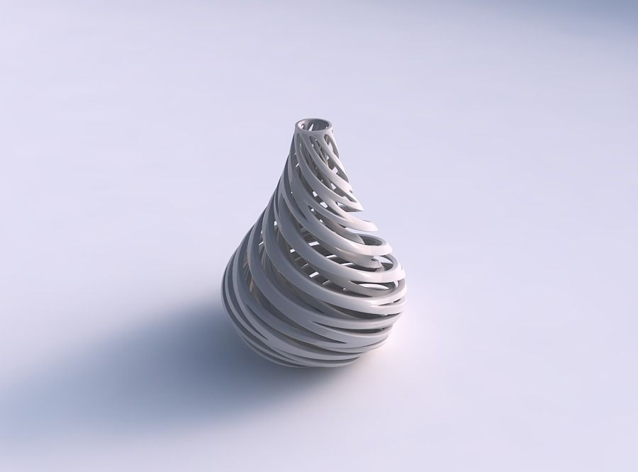 Vase taper drop shape with inner and outer lines very twisted...
