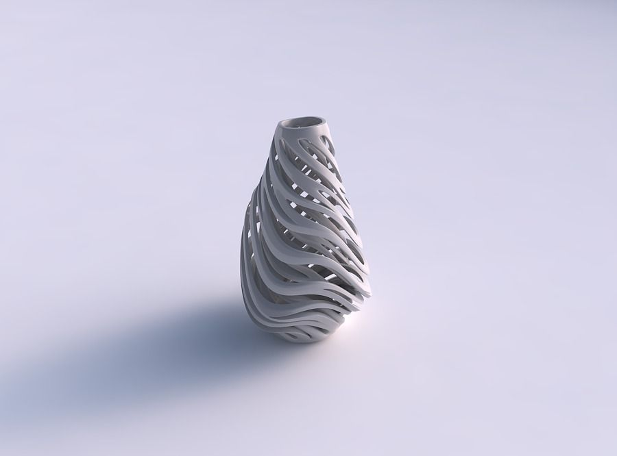 Vase taper 2 with twisted inner and outer lines very twisted ...