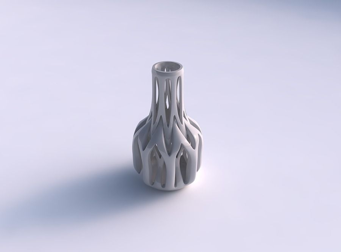 vase slim wider middle with intertwining lines tapered 2 3d model max 1